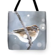 Tree Sparrow In The Snow Tote Bag