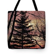 Tree Sunset Tote Bag