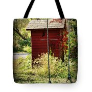 Tree Swing By The Outhouse Tote Bag
