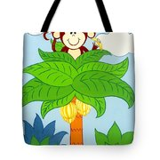 Tree Top Monkey Tote Bag