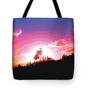 Tree Top Sunrise Tote Bag