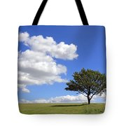 Tree With Clouds Tote Bag