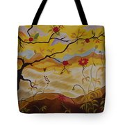 Tree With Red Apple Tote Bag