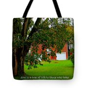 Tree With Scripture Tote Bag