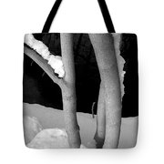 Tree With Snow Tote Bag