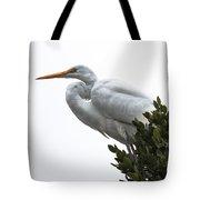 Treed Egret Tote Bag by Robert Bales