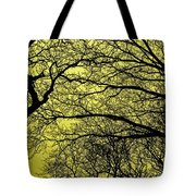 Trees Abstarct Yellow Tote Bag