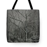 Trees Along The Greenway Tote Bag by Janet Felts