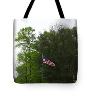 Trees And Flag Tote Bag