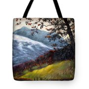 Trees And Hills Tote Bag