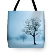 Trees And Snow In Fog, Toronto, Ontario Tote Bag
