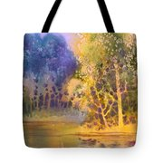 Trees And Water Tote Bag