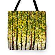 Trees At Twilight Xviii Tote Bag