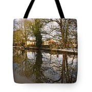 Trees Beside The Wintry Rolleston Pond Tote Bag