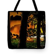 Melted Sunset Abstract Tote Bag