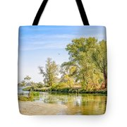 Trees Close To The River Tote Bag