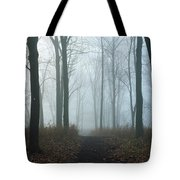 Trees During Autumn In Forest, Dupage Tote Bag