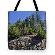 Trees Growing On The Edge Tote Bag