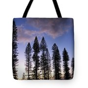Trees In Silhouette Tote Bag