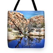 Trees In The Barker Dam Tote Bag