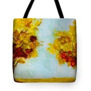 Trees In The Fall Tote Bag by Patricia Awapara