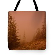 Trees In The Fog Tote Bag