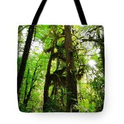 Trees In The Hoh National Rain Forest Tote Bag