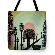 Trees Of Lights Tote Bag