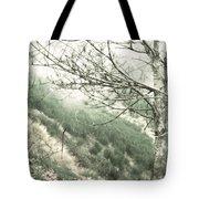 Trees On A Mountain Tote Bag