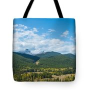 Trees On Canadian Rockies Along Route Tote Bag