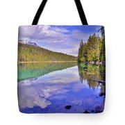 Trees Reflected At Valley Of The Five Lakes Tote Bag