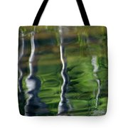 Trees Reflections On The River Tote Bag