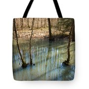 Trees Standing In The Water Tote Bag