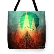 Trees Under Magic Mountains I I Tote Bag