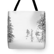 Trees With Hoar Frost Tote Bag