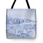 Trenby Bay Blueprint Tote Bag
