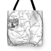 Trenton Map, 1777 Tote Bag