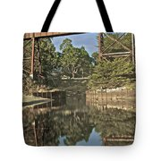 Trestle Over Reflecting Water Tote Bag