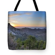 Trevenque Mountain At Sunset  2079 M Tote Bag