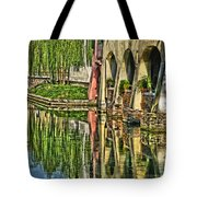 Treviso Canal And Reflections Tote Bag