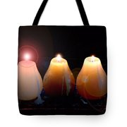 Tri Candles Tote Bag