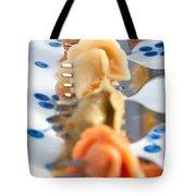 Tri Color Tortellini In Row Tote Bag