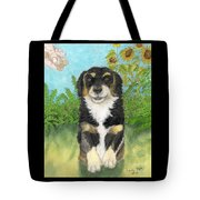 Tri Colored Dachsund Mix Dog Canine Pets Animal Art Tote Bag