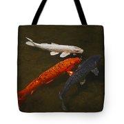 Tri-colored Koi Tote Bag