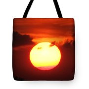 Tri Colored Sunset Tote Bag