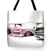 Tri Five Chevys Tote Bag