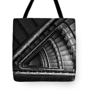 Triangle Staircaise In Bw Tote Bag