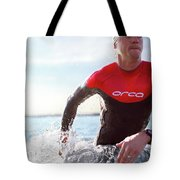 Triathlete And Two Time Iron Man Winner Tote Bag