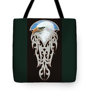 Tribal Eagle Tote Bag