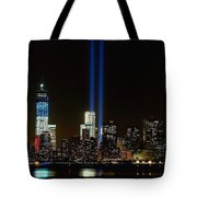 Tribute In Light From Bayonne Tote Bag by Nick Zelinsky